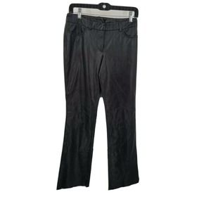 Express 1/2 black genuine leather boot cut Pants